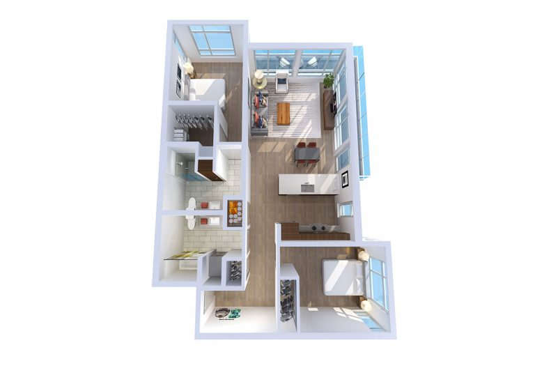 -878 N Fremont – A 2  BED/2 BATH 1029 Sq.ft.Sq.ft.